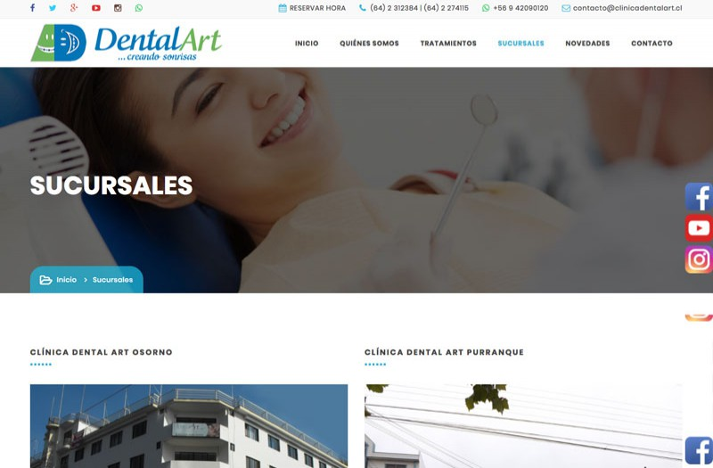Clínica Dental Art - WDesign - Diseño Web Profesional
