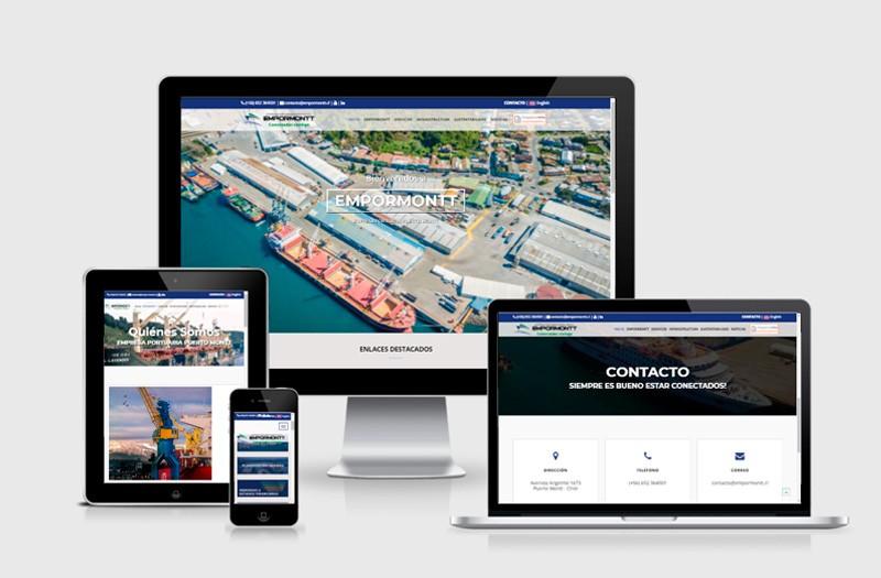 EMPORMONTT - Empresa Portuaria Puerto Montt - WDesign - Diseño Web Profesional